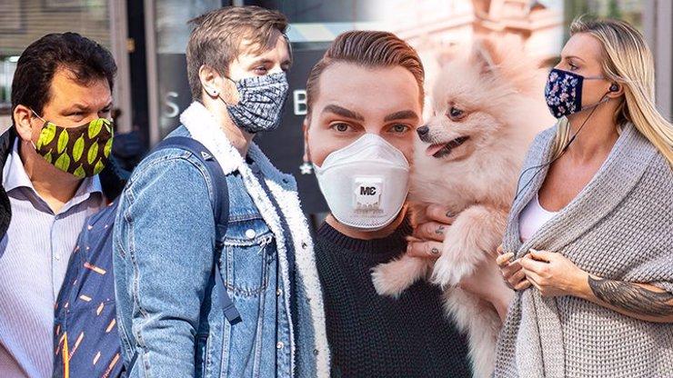 Roušková módní policie Sama Dolce: Češi bojují proti koronaviru stylově a s vtipem