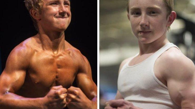 14letý chlapec má svaly jako kulturista a dokáže zvednout dvojnásobek své váhy! Jak se vám líbí?