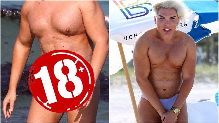 Plastikový zjev Rodrigo Alves se dočista zbláznil! Na pláži ukazoval své nádobíčko a obtloustlé tělo