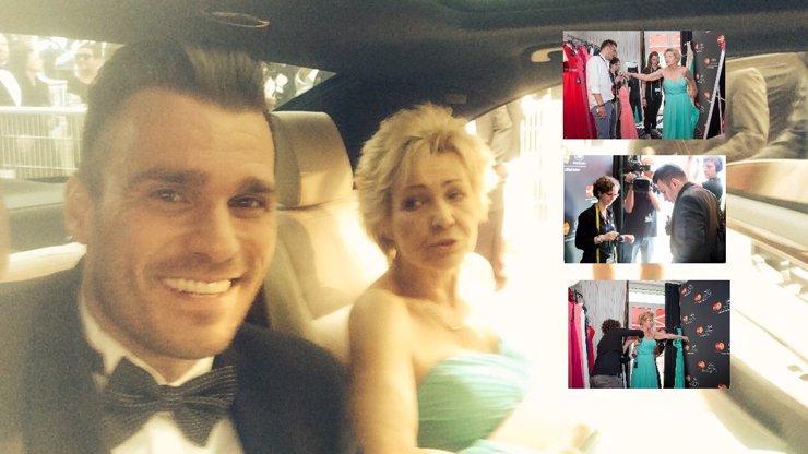 eXkluzivně: Leoš Mareš oblékal maminku na červený koberec v Cannes, kde si udělal selfíčko s Mentalistou! Máme fotky!
