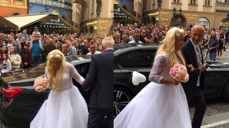 Sžíravá kritika nevěsty Moniky Štikové: Tři brady a šaty pro Marfušu, její matka byla hezčí