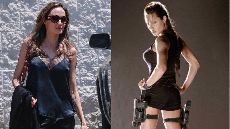 Angelina Jolie vyrazila do ulic LA: V černém saténovém kompletu jí to seklo