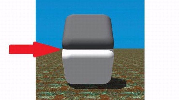OPTICKÝ KLAM: Vidíte šedý a bílý čtverec. Je tomu ale skutečně tak?