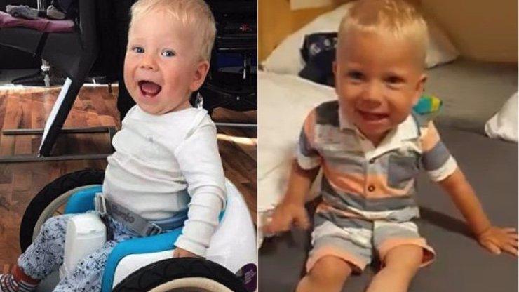 Rodiče nemocného Maxíka se radují: Chlapec se posadil bez pomoci ostatních
