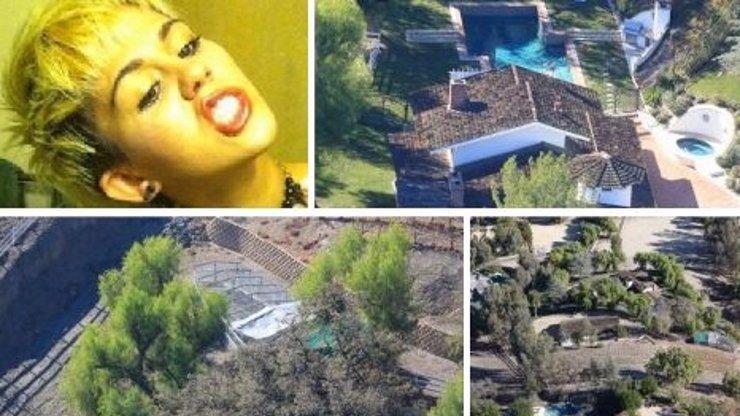 FOTOGALERIE: Rebelka Miley Cyrus renovuje svůj honosný ranč!
