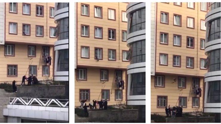 ŠÍLENÉ VIDEO: Chlapeček (2) vyskočil z okna, sousedé ho chytili do deky!
