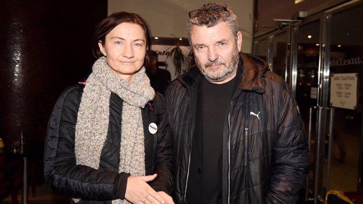 Herec Jiří Štrébl a jeho partnerka, známá novinářka Renata Kalenská