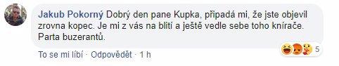 Manžel hejtmanky Jermanové se nechutně opřel do ODS a Kupky: Je mi z vás na blití, jste parta buzer*ntů