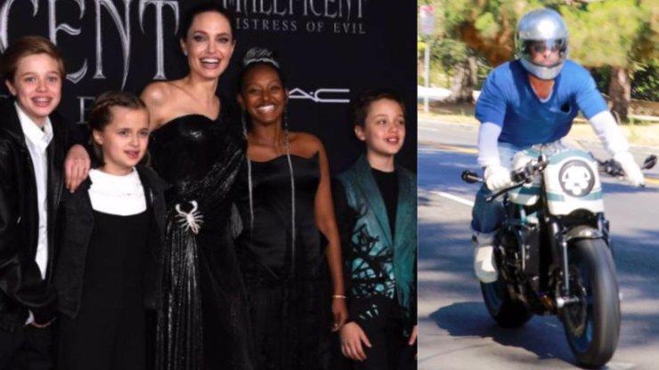 Nenávist zažehnána: Brad Pitt sedl na motorku a navštívil děti i Angelinu Jolie