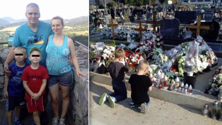 Nejsmutnější Dušičky: Majka (†33) zemřela při porodu, synové pláčou u jejího hrobu