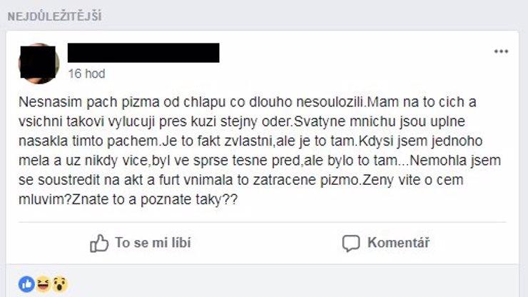Je to mužské pižmo? Nebo je to testosteron? Tento postřeh položil český Facebook!