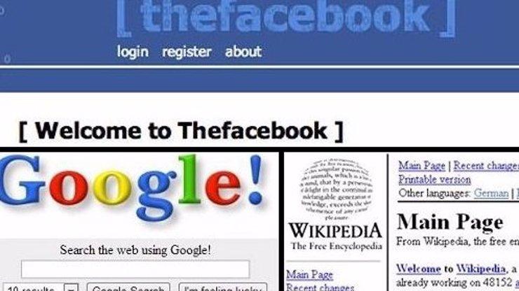 6 obrázků z výletu do internetové minulosti: Jak vypadaly Facebook, YouTube nebo Google ve svých začátcích?