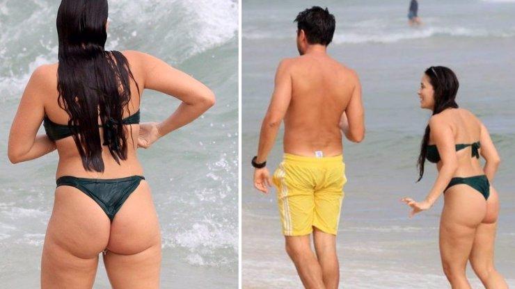 Manželka fotbalové hvězdy provokovala na pláži! Kdo se odhalil v Riu?