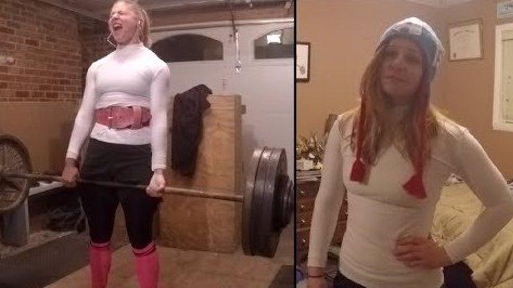 Takhle vypadá holka do nepohody: Blondýna zvedne 175 kilo!