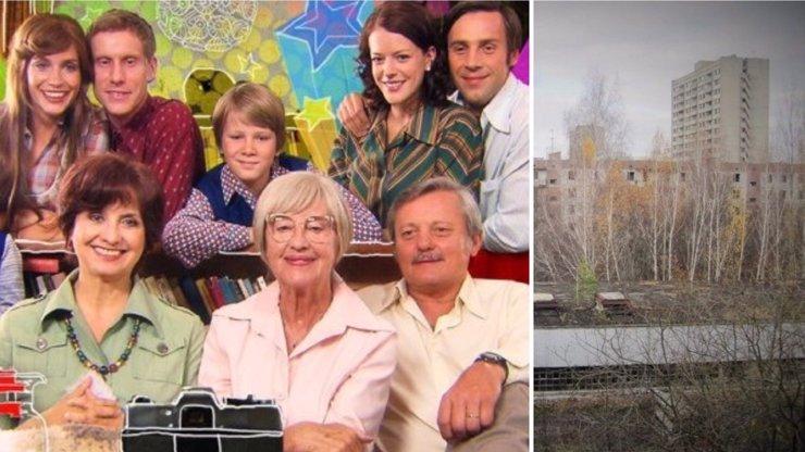 Výbuch jaderné elektrárny v Černobylu ve Vyprávěj: Takhle s hrdiny seriálu zamával