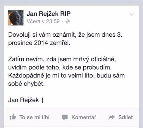 Nejlepší fór tohoto roku! Novinářská lumpenkavárna z Facebooku pohřbila kritika Rejžka, jeho reakce jsou epic!