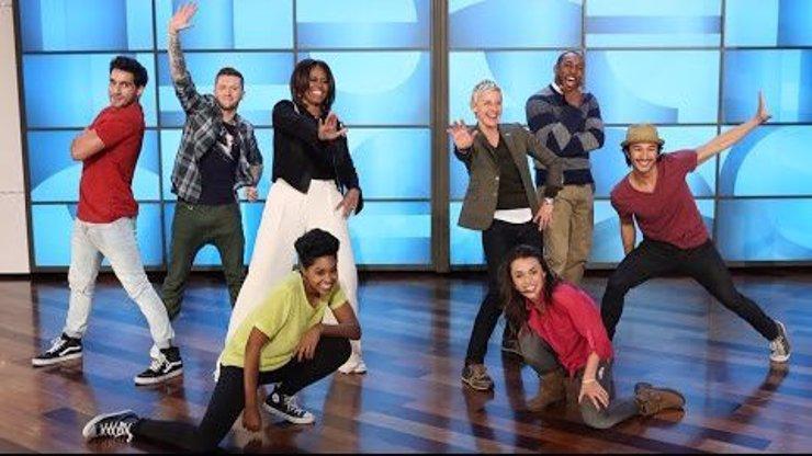 Takhle to na parketě rozpálila Michelle Obama v show Ellen DeGeneres! Bude ji následovat i naše Ivana Zemanová?