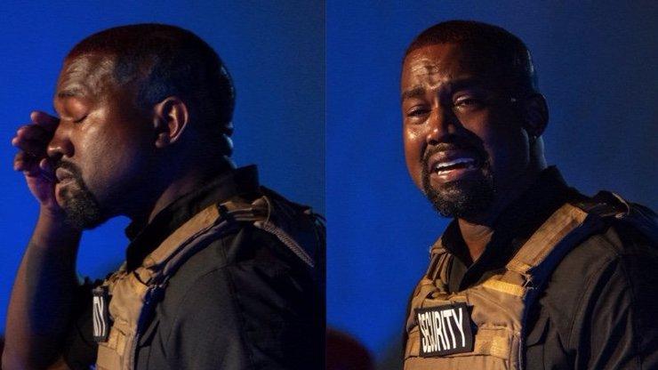 Kanye West zaskočil fanoušky dojemnou řečí: Málem jsem zabil svou dceru, plakal