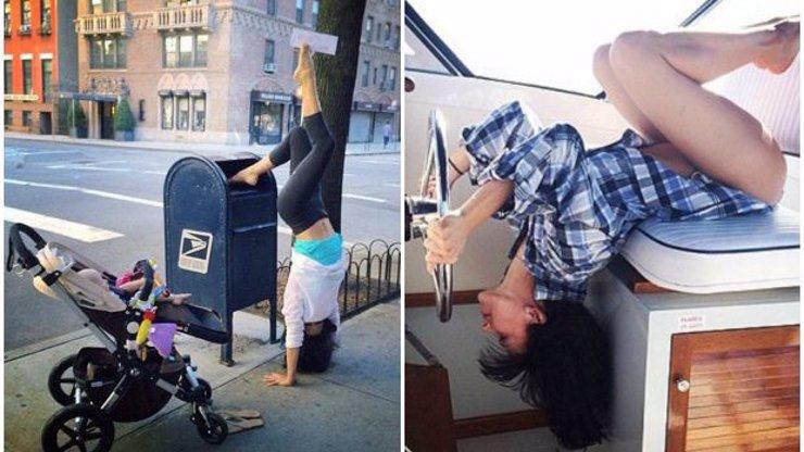 Hilaria Baldwin zase baví internet: 7 ujetých fotek manželky Aleca Baldwina, která šíleně miluje jógu