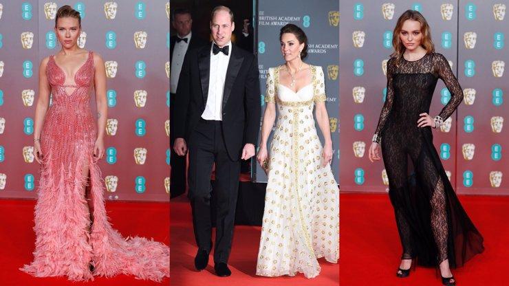 Ceny BAFTA: Úchvatná Kate Middleton a kruté žerty na adresu prince Harryho