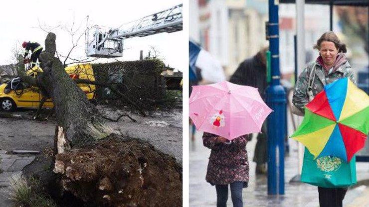 Výstraha před extrémním větrem: Orkán Sabine pustoší Česko, hasiči posilují směny