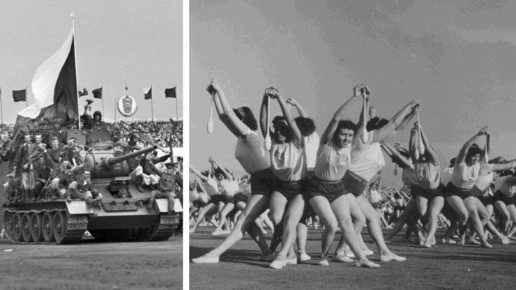 Raz, dva! 63 let od první československé spartakiády: Znáte někoho, kdo na ní cvičil?