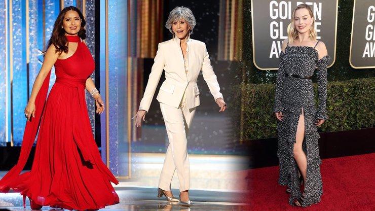 Módní policie na Zlatých glóbech: Rozparky až ke krku i nestárnoucí Jane Fonda