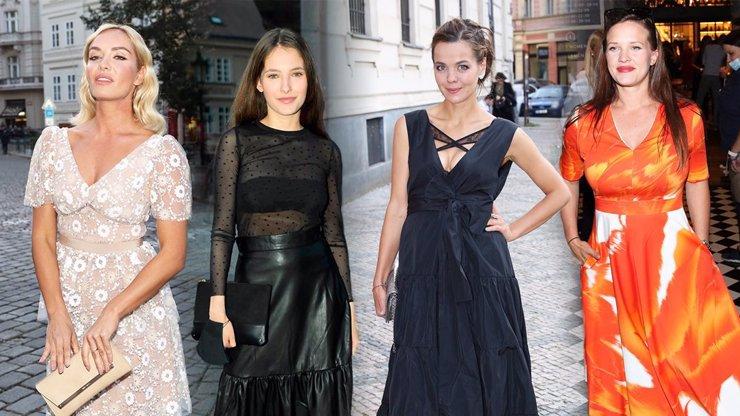 Módní policie plná bohyň: Lilia s hříšným dekoltem, barevný uragán Leichtová a kvítko Kuchařová
