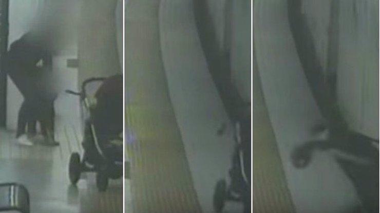 Máma si nedávala pozor na kočárek, vletěl jí přímo pod metro. VIDEO