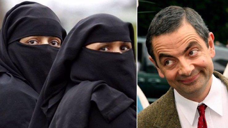 Muslimky vypadají jako poštovní schránky! Mr. Bean hájí vtipkování na jejich adresu
