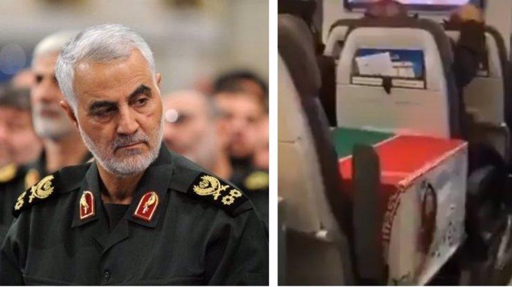 Sulejmáního ostatky byly převezeny do Íránu: Rakev cestovala ekonomickou třídou s pasažéry