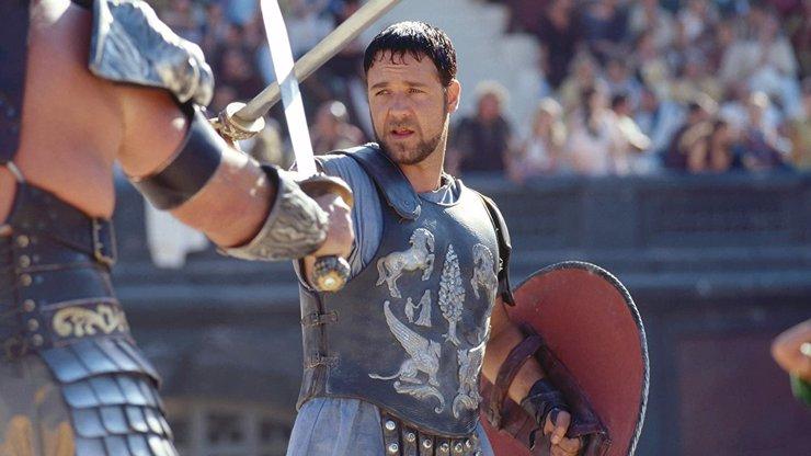 Gladiátor byl natočen před 20 lety: Russell Crowe alias Maximus dnes bojuje už jen s nadváhou