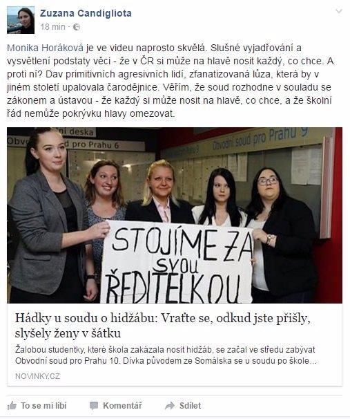 SPOR O ISLÁM V ČESKU VRCHOLÍ: V šátku přišla k soudu exhibovat také snacha ombudsmanky Šabatové! Jste pro zákaz hidžábu?