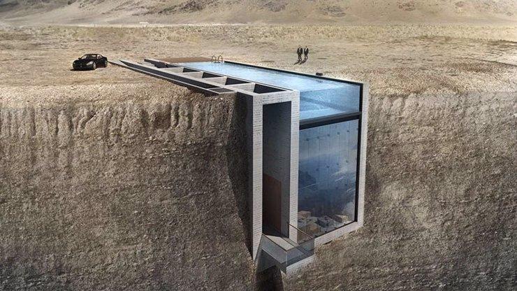 Architekti vytvořili dům na útesu, který vám vezme dech. Tohle jste ještě neviděli!