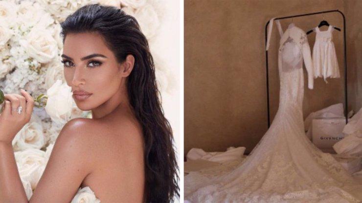 Kim Kardashian po pěti letech zveřejnila TAJNÉ fotky ze zákulisí svatby s Kanyem