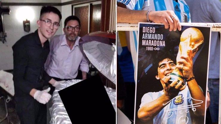 Otevřeli Maradonovu rakev! Pracovníci pohřební služby ukázali fotky mrtvého fotbalisty