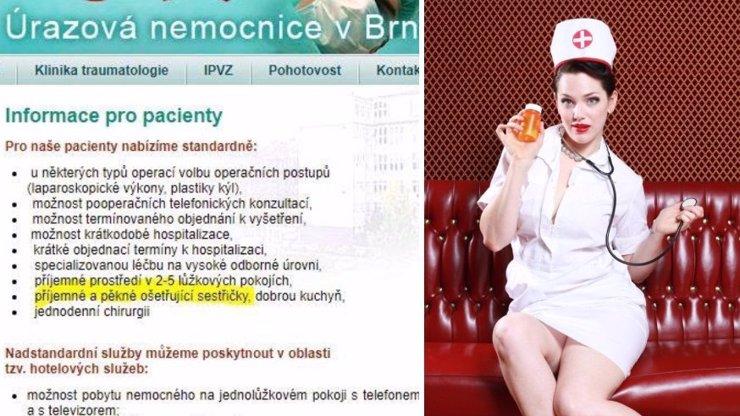 Lidé jsou v šoku: Špitál v Brně láká na příjemné a pěkné sestřičky! Je to už příliš?