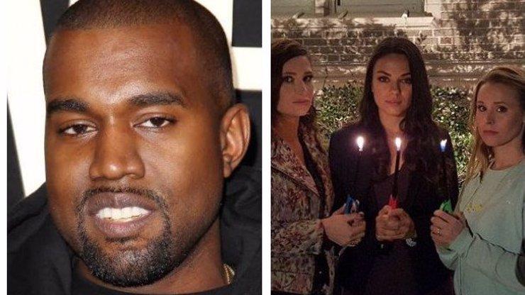 Z Kanyeho si dělají srandu už i Mila Kunis nebo Kristen Bell: Co mu vzkázaly?