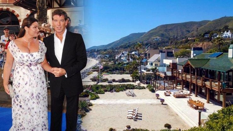 Pierce Brosnan prodává bondovskou rezidenci: 14 koupelen a bazén s vodopádem