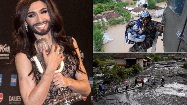 Šílené záplavy na Balkáně způsobila dle církve vousatá zpěvačka! Bůh kvůli ní seslal na Zemi trest!