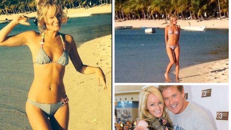 David Hasselhoff má sakra dobrý vkus! Podívejte se, jak vypadá přítelkyně nejslavnějšího seriálového plavčíka v bikinách