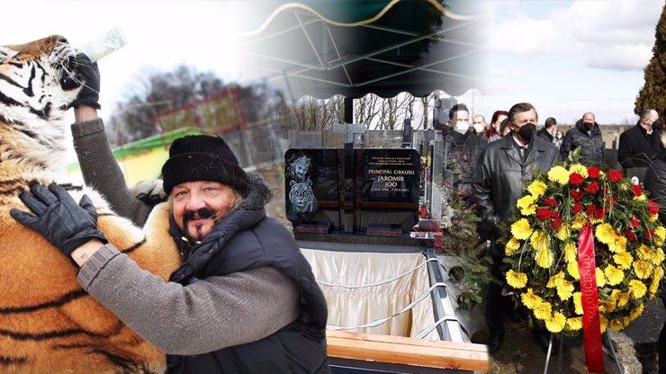 Dojemný pohřeb principála Jaromíra Joo obrazem: Cirkus byl, cirkus je, cirkus bude...