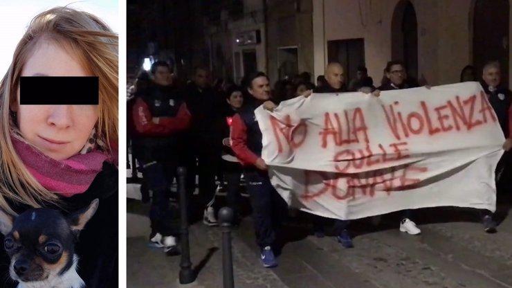 Vražda Češky (†40) vyhnala do ulic tisíce rozhořčených Italů: Smuteční průvod a odsouzení