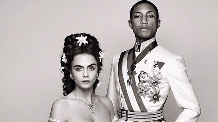 Nejúžasnější dvojka: Cara Delevingne a Pharrell Williams jako nejznámější královský pár! Poznáte který?