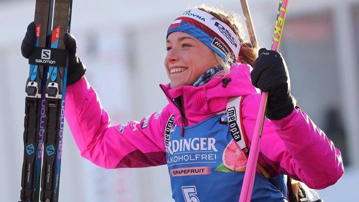 Český biatlon se zvedá ze dna: Davidová (22) dojela druhá!