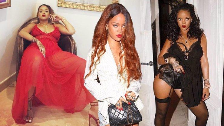 Kila navíc jí svědčí: Zamilovaná Rihanna už kašle na dokonalé míry, faldíky jsou její předností