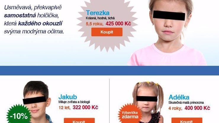 To tu ještě nebylo: Na českém internetu existuje stránka, kde prodávají děti! Nechcete taky jedno?