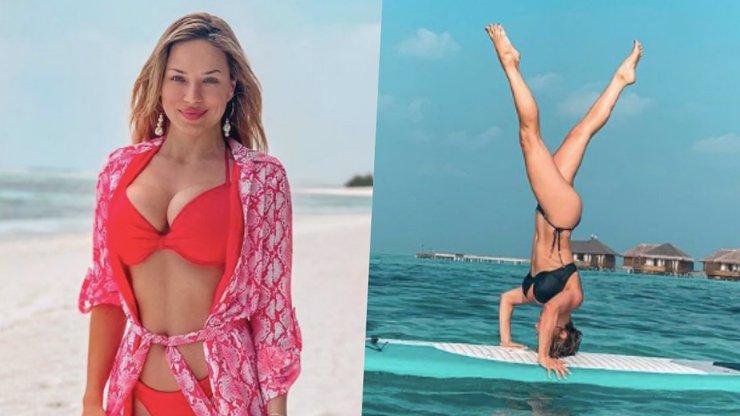 Božská Eva Perkausová řádí na Maledivách: Při pokusu o krásnou fotku spadla do vody