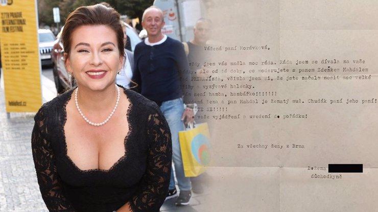 Hanbářko! Dana Morávková z Ordinace dostala podivný dopis: Manžel herečky sršel vtipem