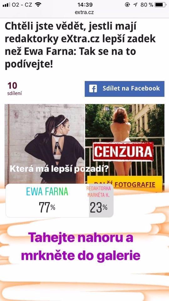 ROZHODNUTO: Ewa Farna má hubenější tělo než redaktorka Markéta Kuča! POZOR, JE TU 2. KOLO ANKETY